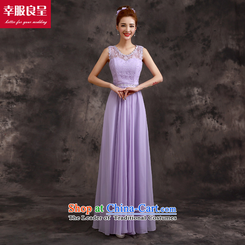 The privilege of serving-leung bridesmaid dress 2015 new bridesmaid service long bridesmaid mission sister skirt evening dress bridesmaids B02) - Beveled Shoulder , a service-leung , , , shopping on the Internet