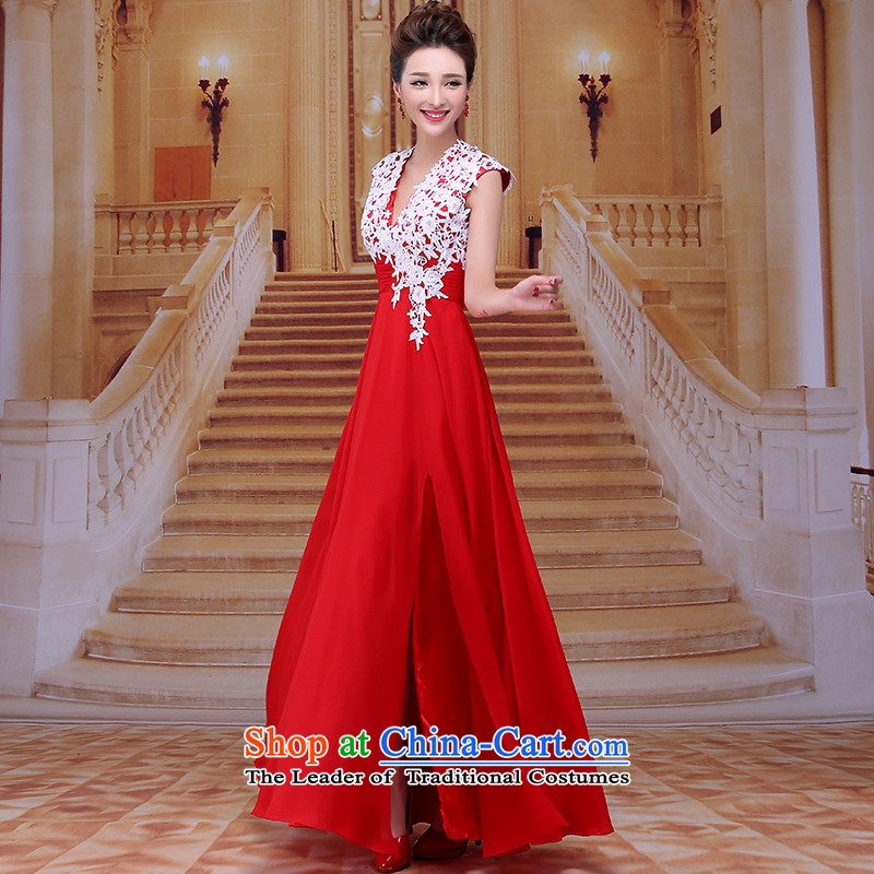 Tim Red Winter marriage bows Service Bridal wedding dress winter red winter bride dress evening dress Female dress annual LF046 RED�S