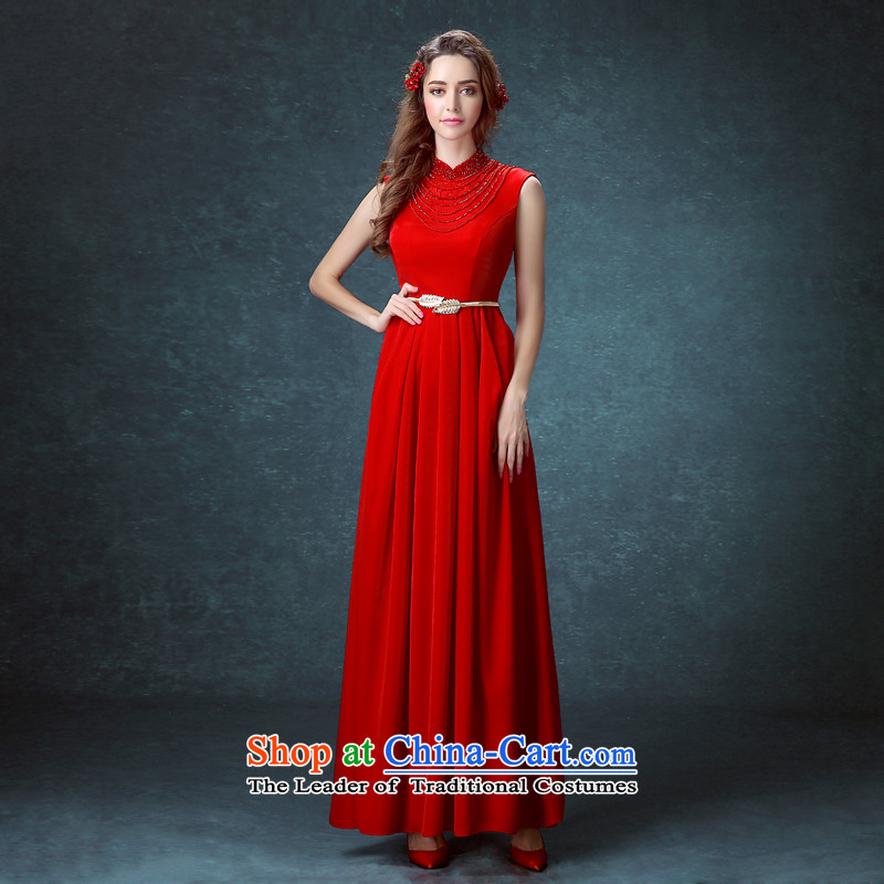 Stephanie _JIAONI_ every bride wedding dress stylish moderator dress annual dinner dress show Service Bridal bows services red?S
