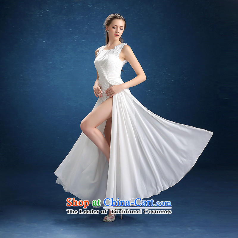 Ball lily_ Lily Dance wedding dresses new 2015 sexy bridesmaid long white gown, evening dresses White?XXL