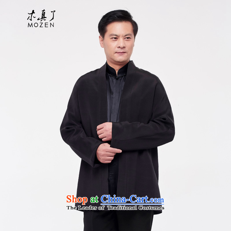 The Tang Dynasty outfits wood really men 2015 autumn and winter herbs extract new clothes COAT? 0706 01 Black?M