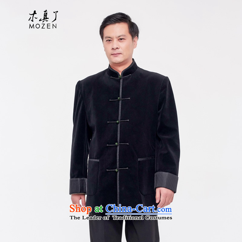 Wooden really with tang blouses men 2015 autumn and winter new Chinese tunic jacket�687 01 Black燲L