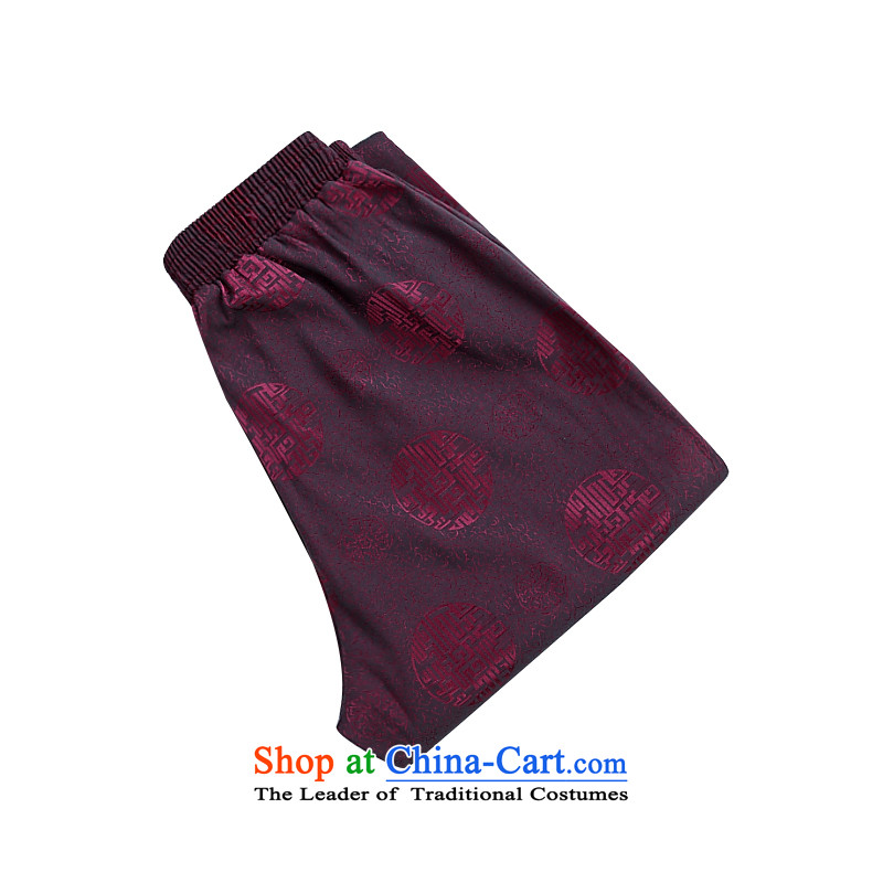 The spring and summer New China wind ascendant of the Tang dynasty jogs men Tang pants red XL
