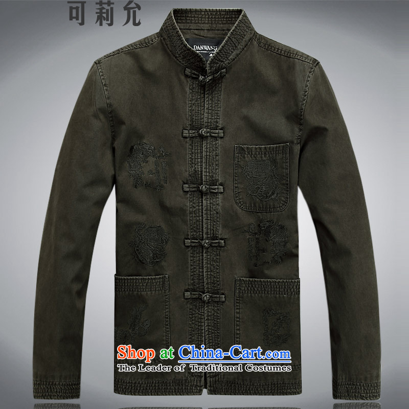 Older persons in the Tang dynasty, extra thick male long-sleeved shirt men winter clothes men Tang Jacket coat elderly clothing�color燲XXL