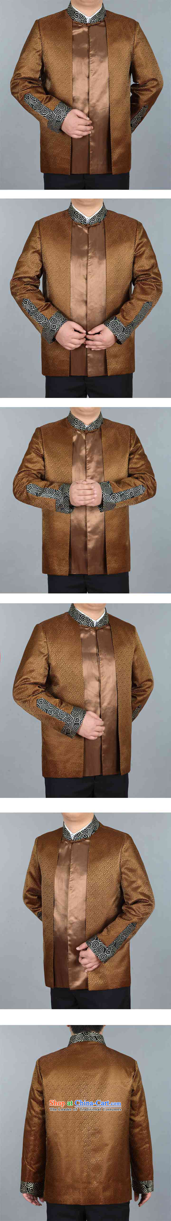 In elderly men jacket coat collar middle-aged man Tang dynasty silk Tang casual jackets gold father聽XXL picture, prices, brand platters! The elections are supplied in the national character of distribution, so action, buy now enjoy more preferential! As soon as possible.