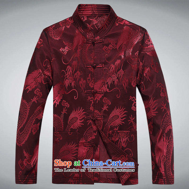 2015 Autumn and Winter New Man Fu Shou long-sleeved jacket in Tang elderly men Tang jacket color聽M-lady concentric , , , shopping on the Internet