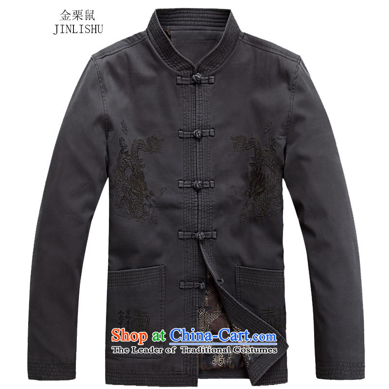 Kanaguri Mouse China wind men Tang dynasty autumn and winter New Men long-sleeved Chinese Han-carbon?XL