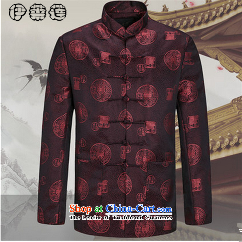 Hirlet Ephraim autumn 2015 replacing men of older persons and Tang dynasty long-sleeved men of ethnic jacket over the life of older Chinese couples Tang dynasty jacket characters men 185