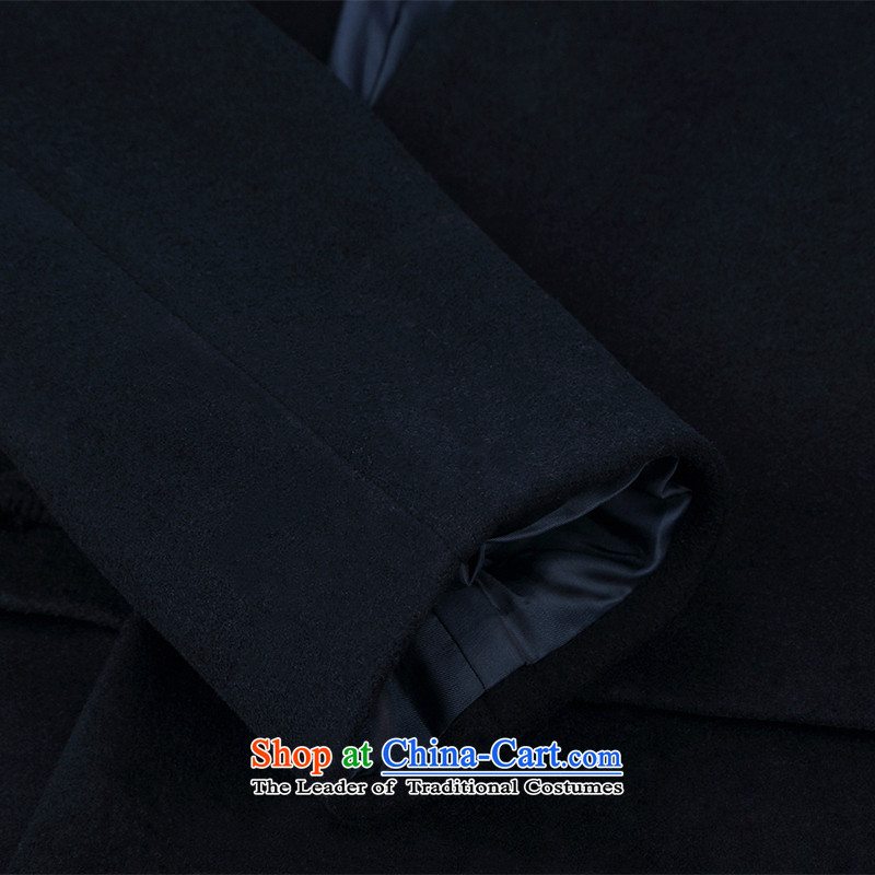 Renowned winter wool a wool coat jacket and Tang dynasty Chinese tunic male China wind Han-wool velvet cloak men in this Long Hoodie Tibetan blue聽XL, renowned (CHIYU) , , , shopping on the Internet
