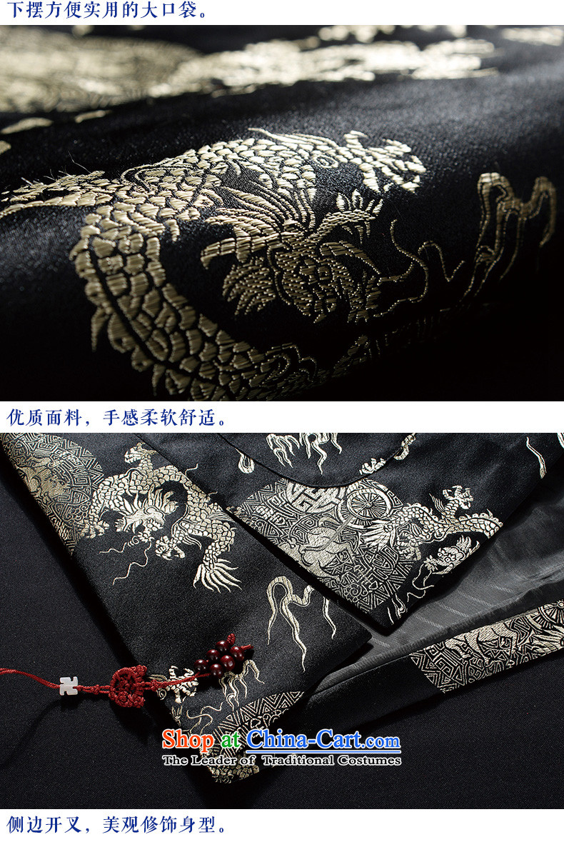 Hirlet Ephraim2015 autumn and winter, China Dragon men Tang Dynasty Ãþòâ National wind in older cotton coat middle-aged Tang dynasty winter jackets shirts robe black175 pictures, prices, brand platters! The elections are supplied in the national character of distribution, so action, buy now enjoy more preferential! As soon as possible.