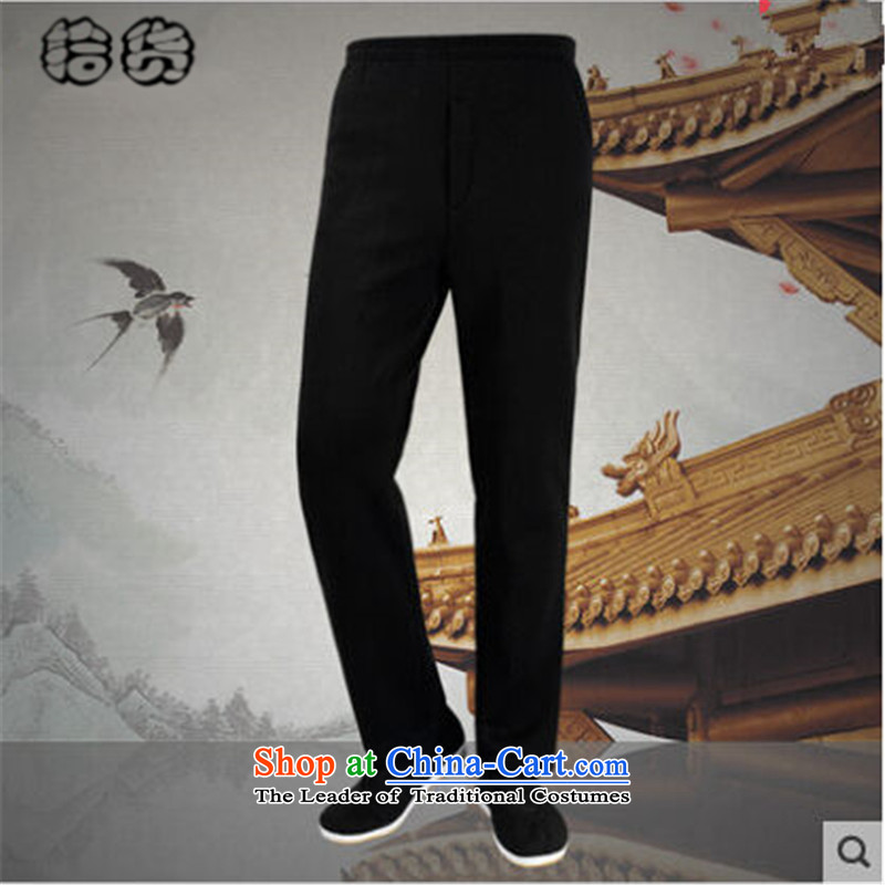 Pick the 2015 autumn and winter New China wind elderly men outside the Tang Dynasty Bonfrere looked as casual wear warm thickened the lint-free in older grandpa replacing pant straight legged pants and black velvet?L