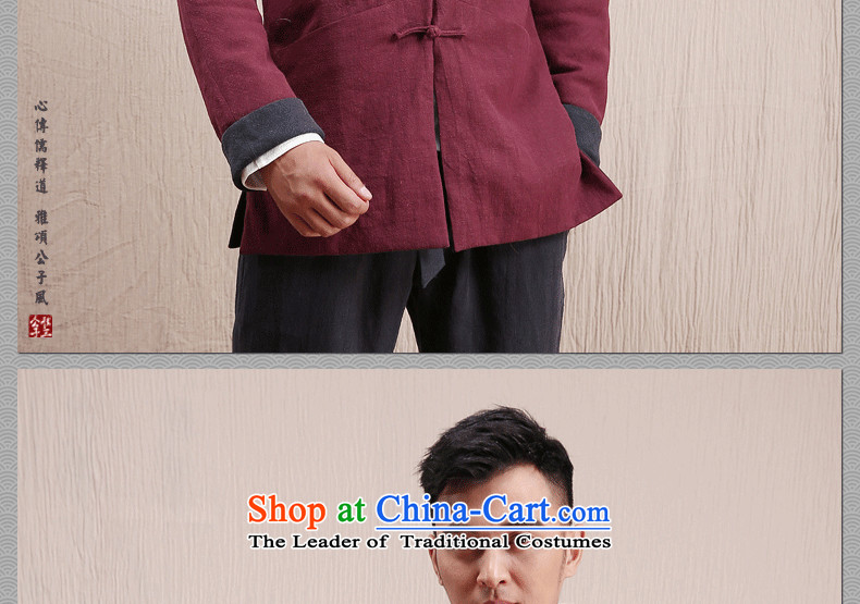 Cd 3 model scanner use two China Wind Jacket Chinese men casual linen Tang dynasty national costumes autumn and winter reversible navy blue/English thoroughbred聽180/96A(XL) picture, prices, brand platters! The elections are supplied in the national character of distribution, so action, buy now enjoy more preferential! As soon as possible.