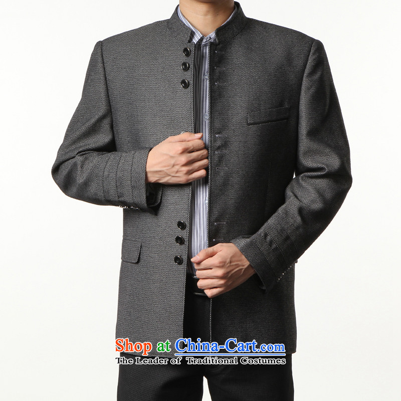 Kim, the men's leisure-ho Chinese tunic suit the Chinese Tang dynasty collar Spring and Autumn Chinese tunic male jacket Sau San black and gray聽2000_58 for around 922.747 215