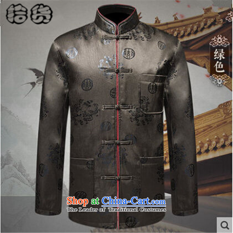 The 2015 autumn and winter pick the new and old age are larger men father replacing Tang jackets l traditional Tang jackets of older persons in the Tang dynasty and the red聽volume (shihuo 185XXL, pickup) , , , shopping on the Internet