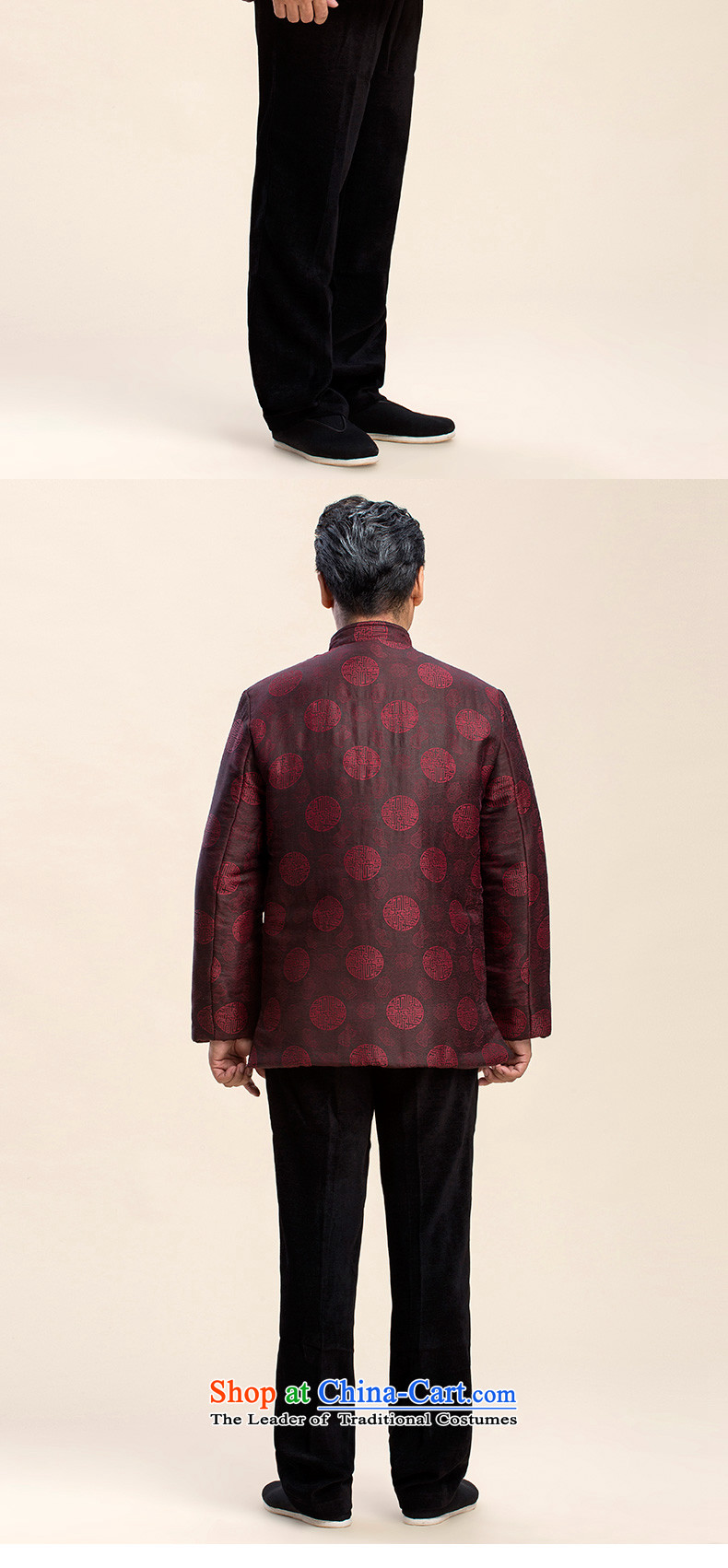 Pick the 2015 autumn and winter of older persons in the new Tang Jacket coat male l ãþòâ Chinese antique grandfather replacing Tang jackets red185 pictures, prices, brand platters! The elections are supplied in the national character of distribution, so action, buy now enjoy more preferential! As soon as possible.