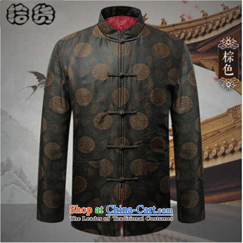 Pick the 2015 autumn and winter of older persons in the new Tang Jacket coat male l ãþòâ Chinese antique grandfather replacing Tang jackets red185, pickup (shihuo) , , , shopping on the Internet