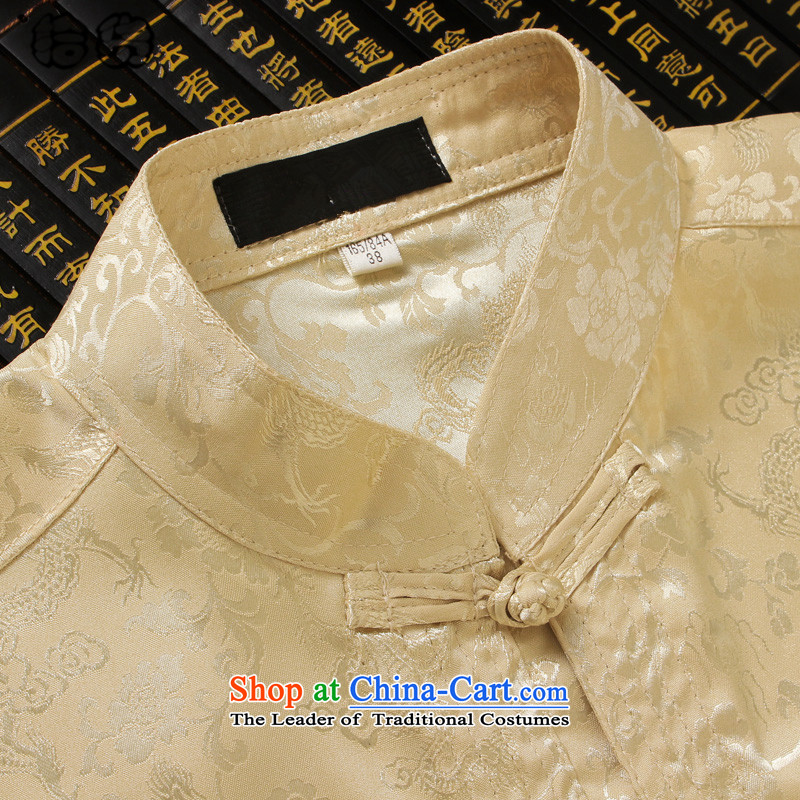 Pick the 2015 autumn and winter new Elderly Tang loaded on long-sleeved clothes MEN CASUAL TROUSERS Kit China wind retro men shirt Tang dynasty father replacing aristocratic Wong聽170, Volume (shihuo pickup) , , , shopping on the Internet