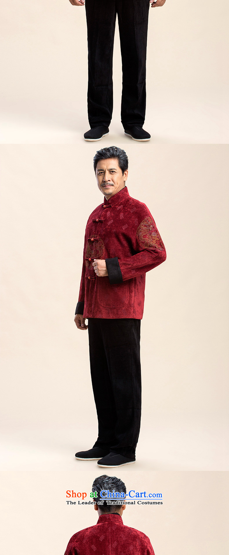 Pick the 2015 autumn and winter New Men Tang Jacket coat of older persons in the father boxed Tang jackets Tang dynasty China wind men retro leisure father red聽XXXL picture, prices, brand platters! The elections are supplied in the national character of distribution, so action, buy now enjoy more preferential! As soon as possible.