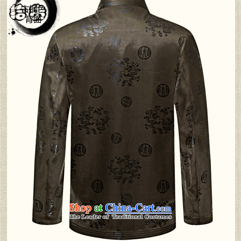 Pick the 2015 autumn and winter of older persons in the new Man Tang Gown long sleeve jacket coat of older persons that have been Shou Tang Grandpa jackets navy blue聽190, pickup (shihuo) , , , shopping on the Internet
