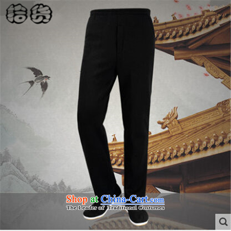 The 2015 autumn and winter pick new and older persons) Code Tang dynasty men casual pants elderly men, wearing the Bonfrere looked as casual lint-free thick warm of older persons in the Tang dynasty casual pants autumn have not lint-free)?XXXXL