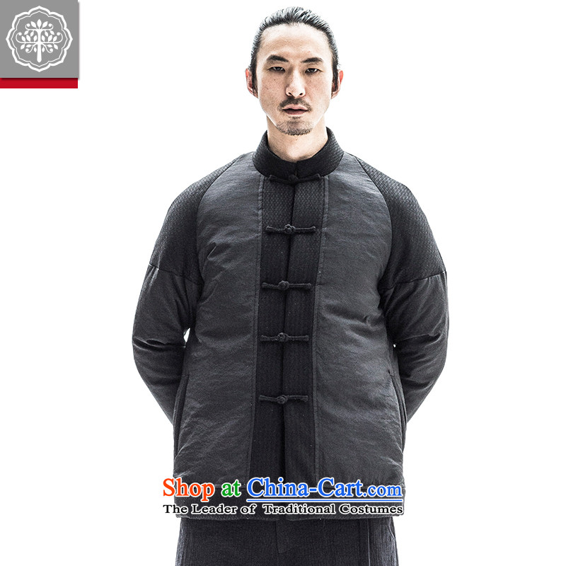 To tree original autumn and winter men thick Tang jackets Youth Chinese national Tang Dynasty Recreation and Hyun color 185_XXL robe
