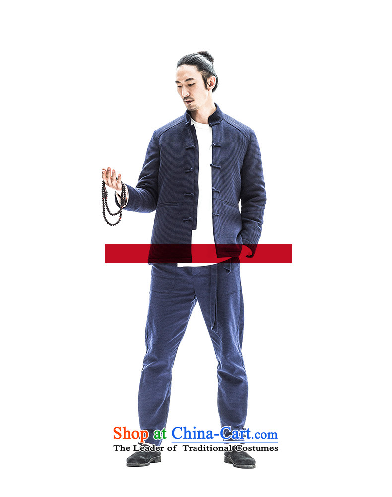 To China wind load tree winter lint-free cotton plus male Tang Dynasty Chinese collar up thick Tang dynasty detained men blue 180/XL robe picture, prices, brand platters! The elections are supplied in the national character of distribution, so action, buy now enjoy more preferential! As soon as possible.