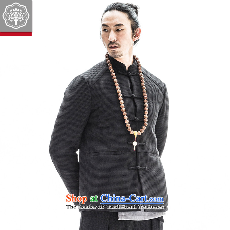 To China wind load tree winter lint-free cotton plus male Tang Dynasty Chinese collar up thick Tang dynasty detained men blue robe 180/XL, EYENSREE Tree (Context) , , , shopping on the Internet
