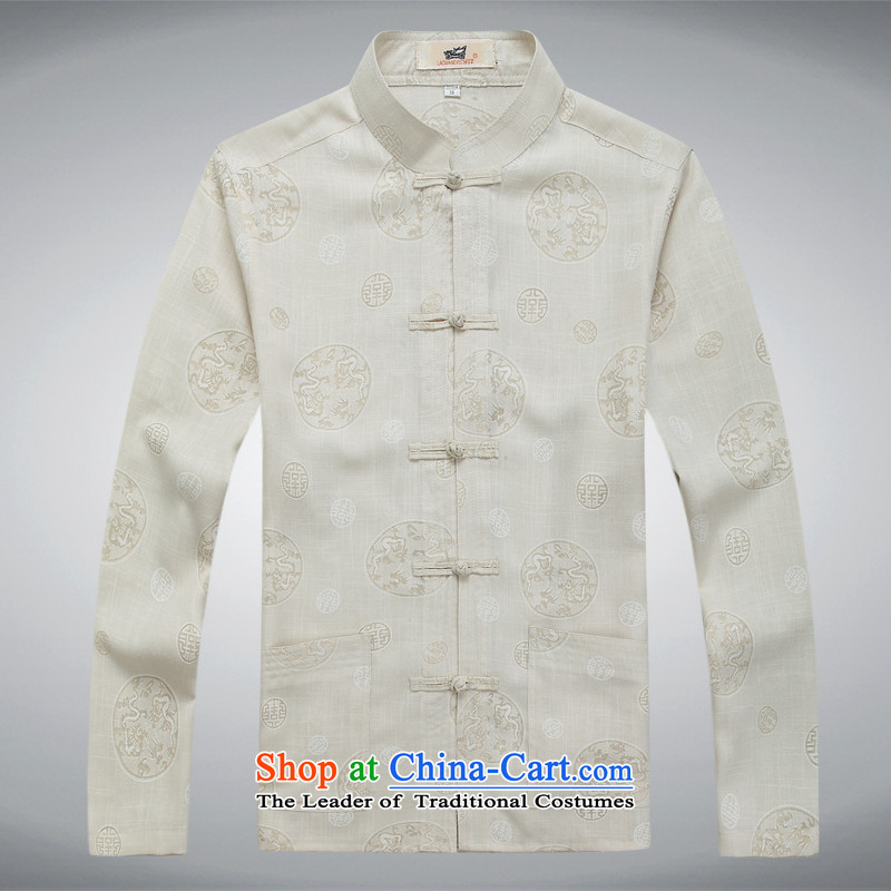 Tang dynasty long-sleeved men detained Chinese tunic Han-rom China wind linen men casual relaxd shirts and white T-shirt , M-hi concentric , , , shopping on the Internet