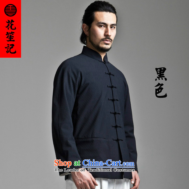 His Excellency spend national retro credited China wind in Dili on the Tang Dynasty Men's Mock-Neck long-sleeved jacket is deducted Sau San Chinese Chiu-pack Black?170/84A