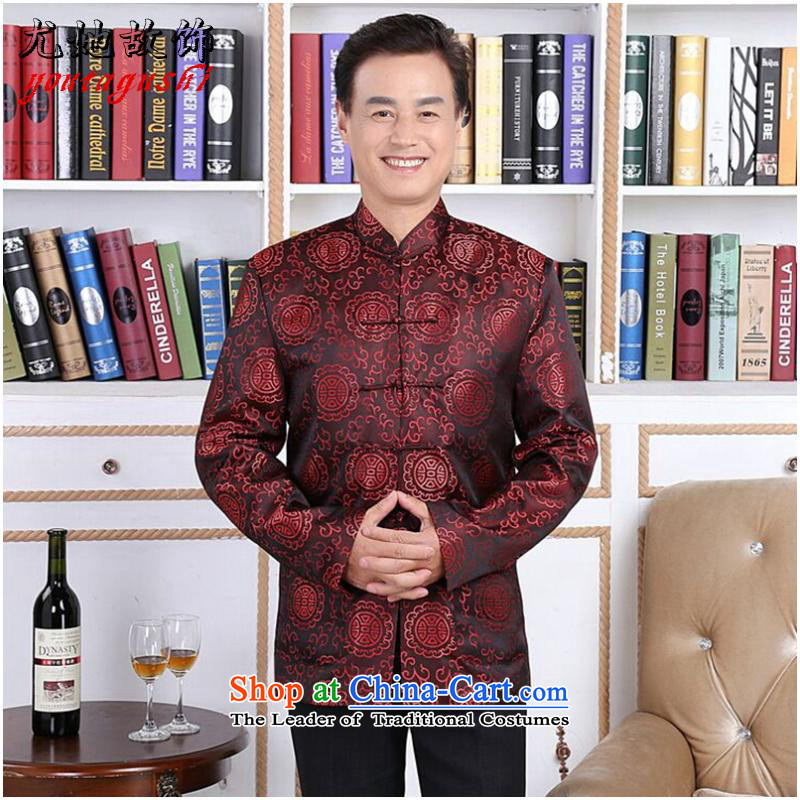 She was particularly ornaments autumn and winter new elderly men and women Tang dynasty taxi couples with brocade coverlets made long-sleeved jacket robe wedding men聽L