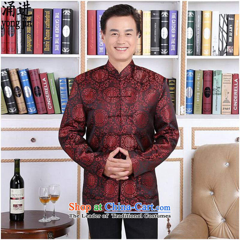 The elderly in the long-sleeved jacket Tang China wind classic wedding dresses made men M