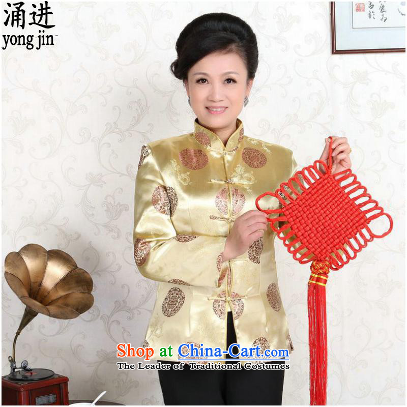 The elderly in the long-sleeved jacket Tang China wind classic wedding dresses made with Golden Girls of couples?M