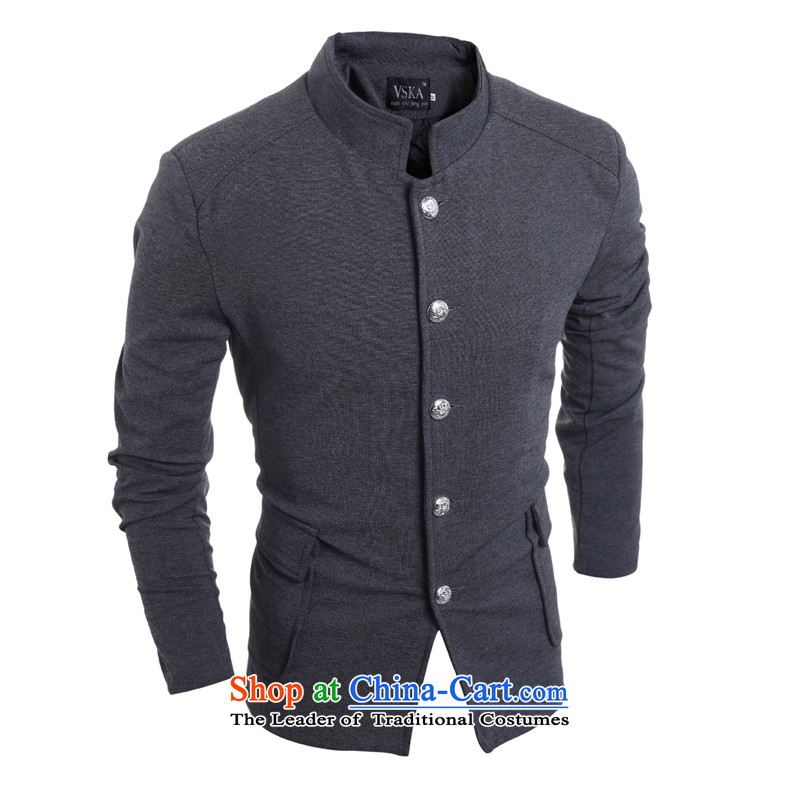 2015 Autumn and winter men new retro Chinese tunic single row detained after Chinese tunic suit pocket leisureinspected 5,975grayphoto, the price and the XL brand platters! The elections are supplied in the national character of distribution, so action, buy now enjoy more preferential! As soon as possible.