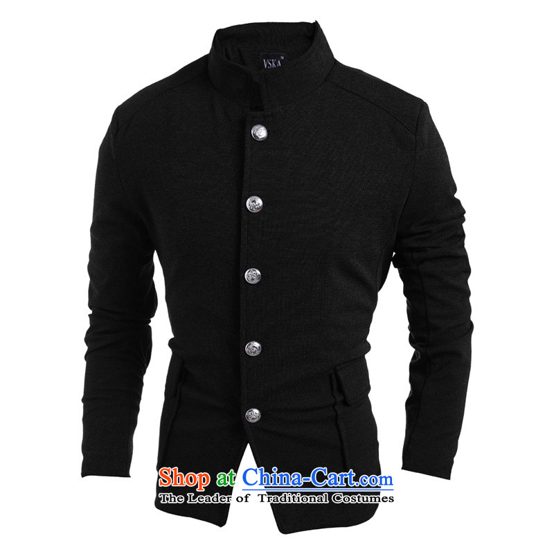 2015 Autumn and winter men new retro Chinese tunic single row detained after Chinese tunic suit pocket leisureclosely related to XL, gray inspected 5,975 (rvie.) , , , shopping on the Internet
