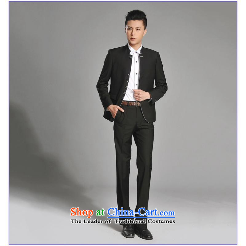 2015 New Chinese tunic Kit Men's Mock-Neck youth popular Korean black leisure suit groom Sau San installed new gray聽M us day in accordance with the property (meitianyihuan) , , , shopping on the Internet