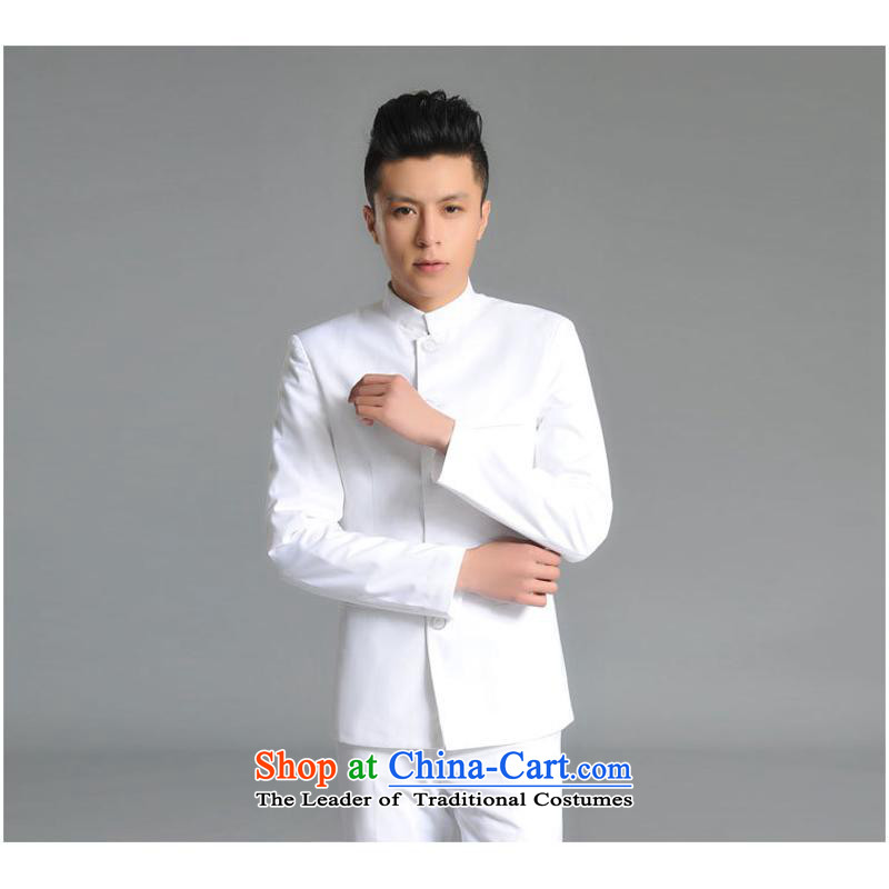 The new white Youth Chinese tunic male and Korean figures of photography with floor repair health groom wedding dress kit black M us day in accordance with the property (meitianyihuan) , , , shopping on the Internet