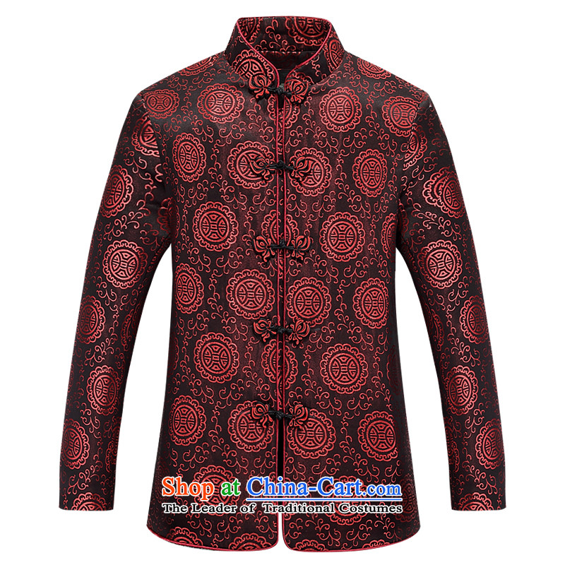 The elderly in the Tang dynasty, extra thick cotton coat 2015 couples new of Chinese Han-plus warm jacket coat lint-free China wind Tang dynasty birthday gift for life Services xl red men XL/180, Europe Health (OULANGGE) , , , shopping on the Internet