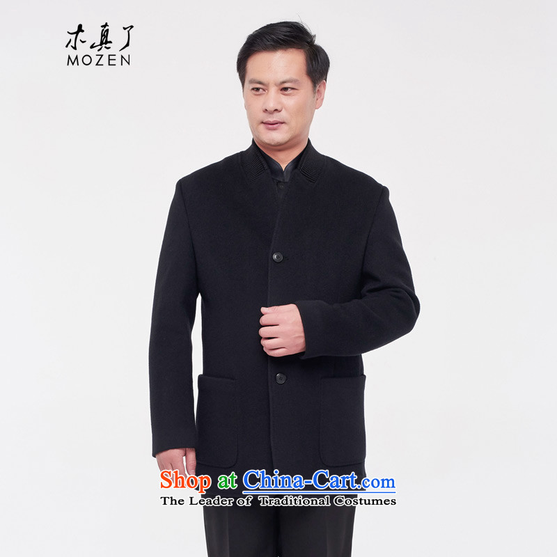 Wooden really with tang woolen coats of men by 2015 will fall and winter New China Wind Jacket cashmere overcoat 0910 Appliances 10 men and the deep blue?M