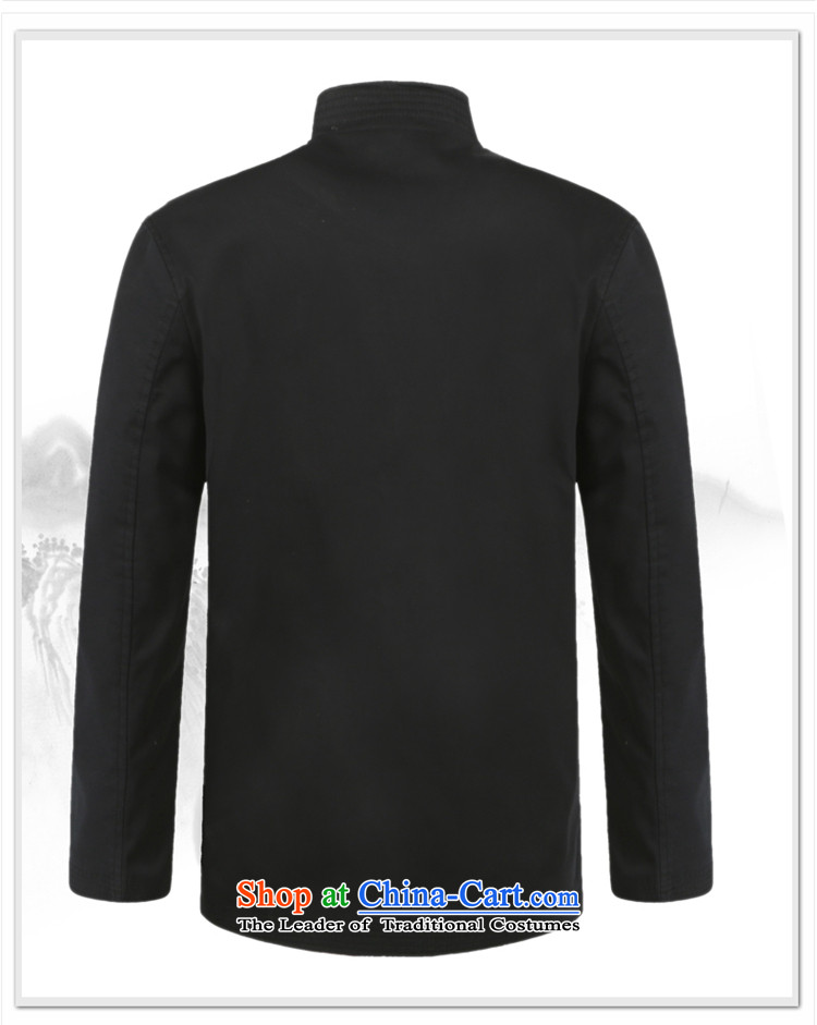 The new 2015 Yang Shuai men Tang jackets long-sleeved shirt collar in the Spring and Autumn Period China Wind Jacket older national costumes Chinese Men's Mock-Neck聽(winter) navy blue black聽185 pictures, prices, brand platters! The elections are supplied in the national character of distribution, so action, buy now enjoy more preferential! As soon as possible.