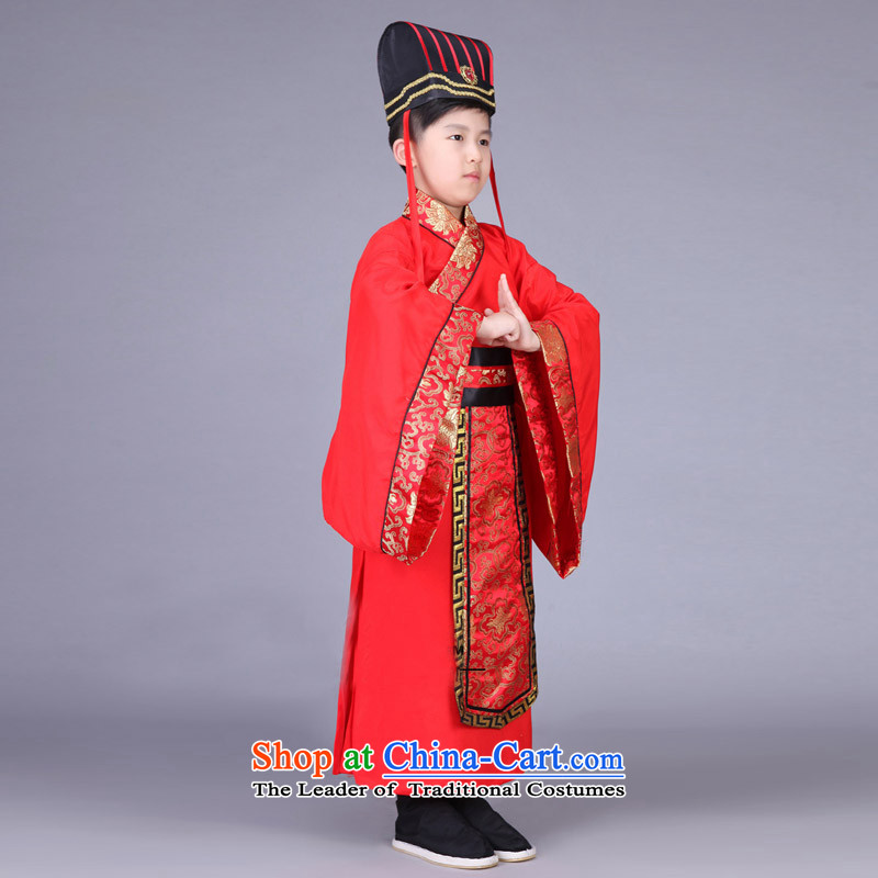 Time the new Syrian children, men and Han-dynasty during the Warring States Period Drama third-country Chin Han Ministers Gau uniforms nunnery costumes cos red 130CM photo, prices, brand platters! The elections are supplied in the national character of distribution, so action, buy now enjoy more preferential! As soon as possible.