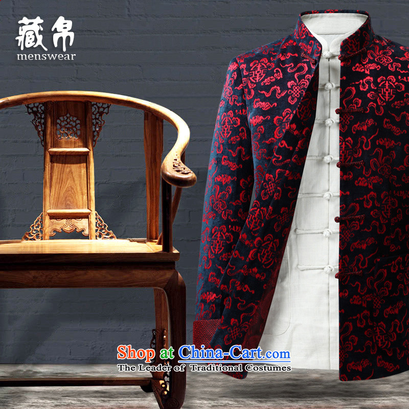 Genuine silk men hidden in the elderly father of Tang Father Grandpa China wind Chinese banquet birthday feast wedding dresses red聽170_M 1316