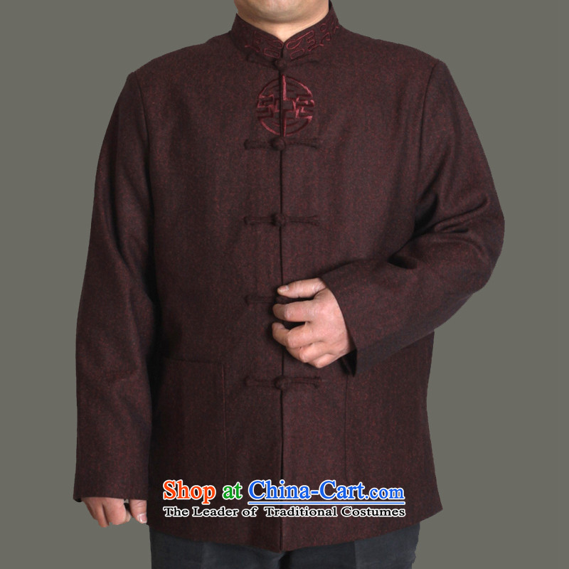 The Cave of the explosion of the elderly urged the autumn and winter in Tang Dynasty older very casual jacket embroidered with father Y723 upscale purple cotton plus 185 yards