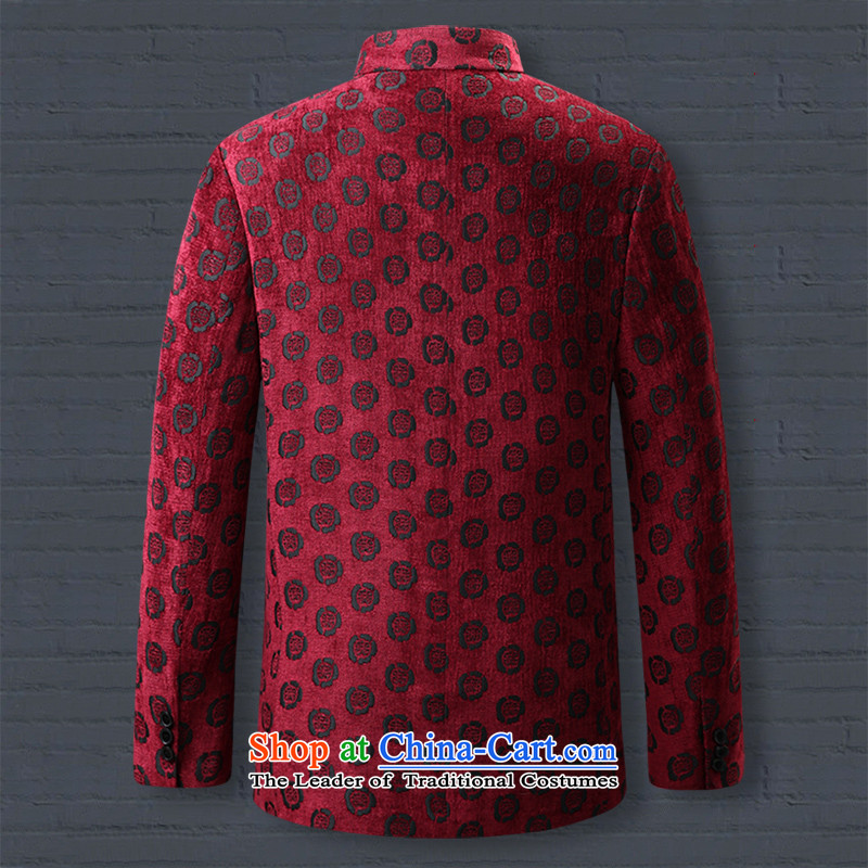 9National men hiding Tang dynasty wedding banquet dress dad grandpa replacing collar disc tie china wind聽MB52616 180/XL, chinese red color 8D , , , possession shopping on the Internet