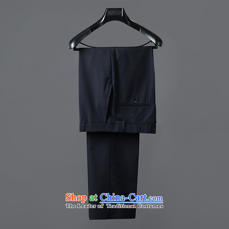 The Autumn Chinese tunic suit the Chinese Men's Mock-Neck middle-aged and young casual dress of nostalgia for Sau San Chinese Blue Kit聽1201 180A, Tibetan Silk , , , shopping on the Internet