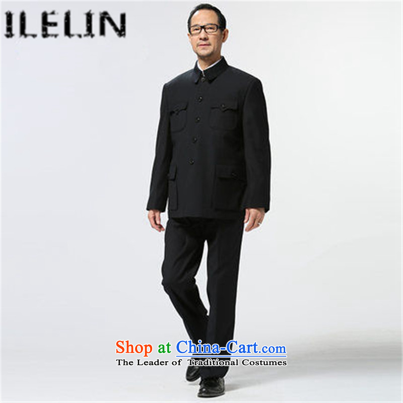 Ilelin2015 autumn and winter in the new elderly men Chinese tunic kit men older persons serving Chinese Lapel Zhongshan Grandpa Load Map Color�72/170