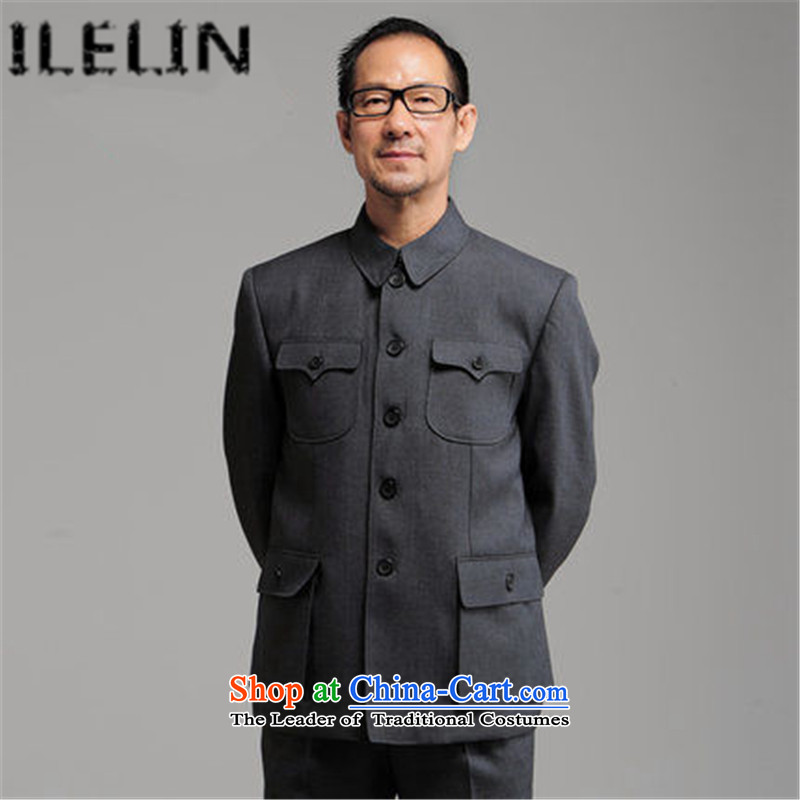 Ilelin2015 autumn and winter New China wind in older men Chinese tunic Kit Chinese national costumes of older persons with gray聽80 Father