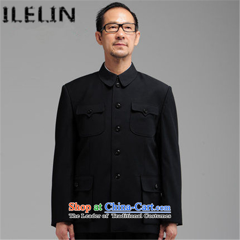 Ilelin2015 autumn and winter New Men Chinese tunic kit of older persons in the boys older Zhongshan service pack chinese black jacket grandpa聽70