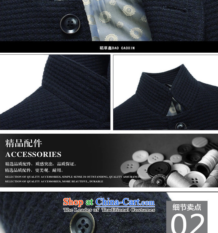 Caling keling winter clothing new business casual jacket male and video temperament men wool Chinese tunic collar warm coat buttoned Sau San聽170/88(M-48)) Picture, prices, brand platters! The elections are supplied in the national character of distribution, so action, buy now enjoy more preferential! As soon as possible.