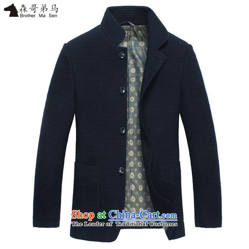 Caling keling winter clothing new business casual jacket male and video temperament men wool Chinese tunic collar warm coat buttoned Sau San 170_88_M-48__