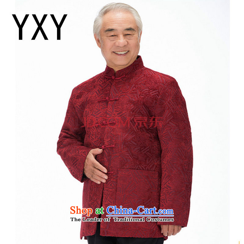 The end of the Tang dynasty joined the light of older men's Tang Dynasty Chinese Disc deduction older Mock-neck�DY1455�TAN�XXL